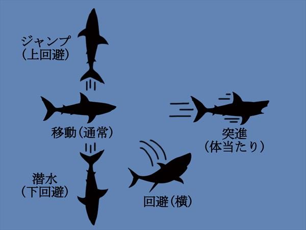 水中でのサメの操作